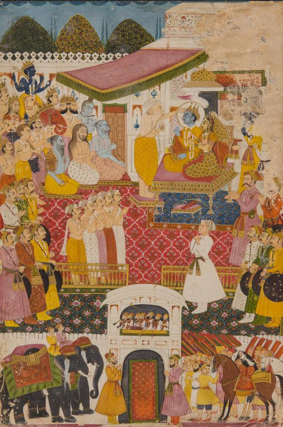 Fig.6 The Coronation of Rama, Jodhpur, Late 18th c. Bonhams, sale 17 Mar 2014, New-York, Lot 127.