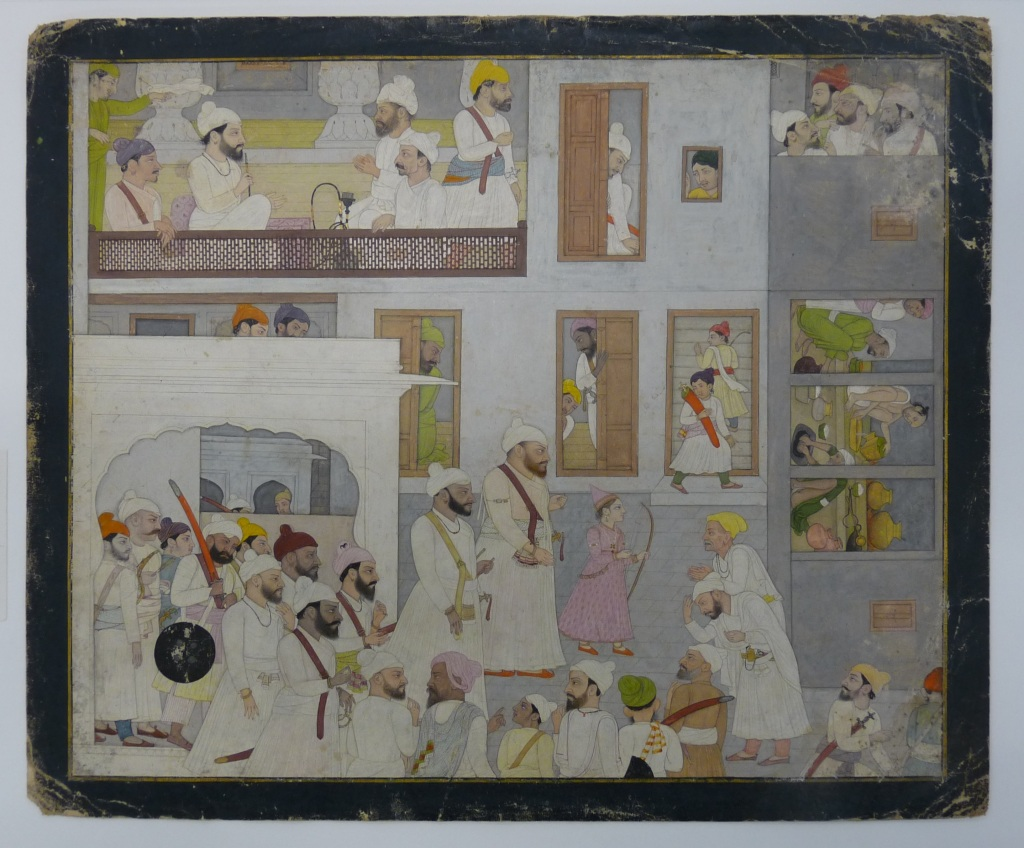 Raja Prakash Chand and Raja Bhup Singh of Guler, end of the18th century, Pahari hills, Guler style, RV-3025-81, Volkenkunde Museum.